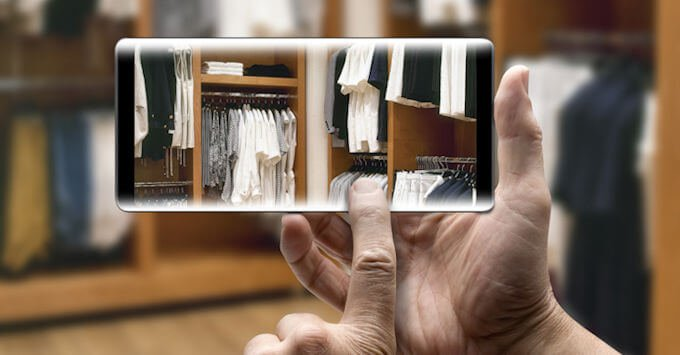 Taking a picture of a closet