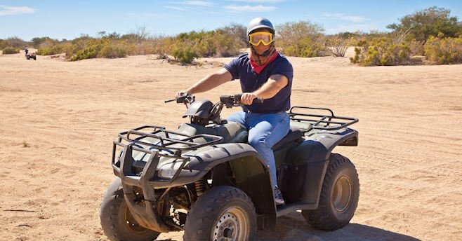 man on an atv